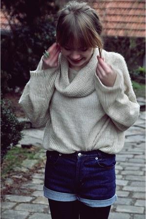 H&M cardigan - vintage shorts