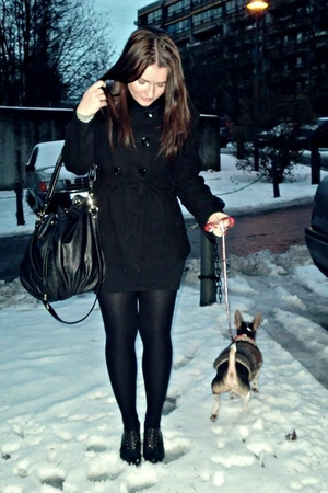 black H&M jacket - black H&M purse - black H&M shoes