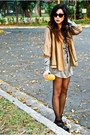 H-m-dress-h-m-jacket-trousseau-bag-cynthia-rowley-sunglasses-zara-heels