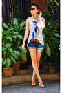 Versace-scarf-forever-21-shorts-michael-kors-sunglasses-celine-belt-fore