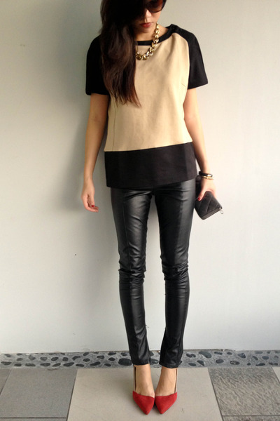 Mango top - Zara shoes - Topshop pants