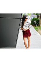Ya Los Angeles skirt - Zara shoes - Mango necklace