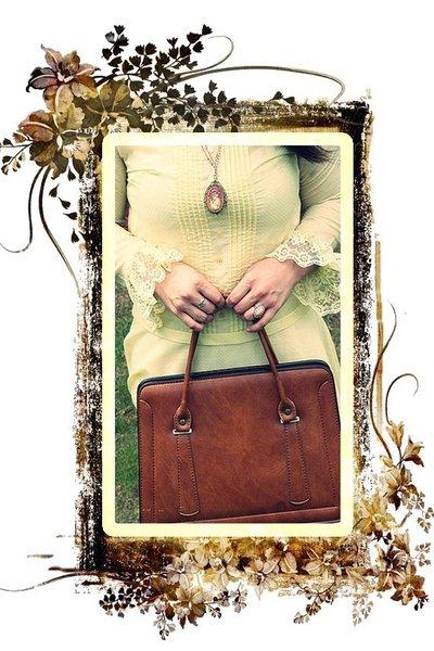 dress - necklace - purse