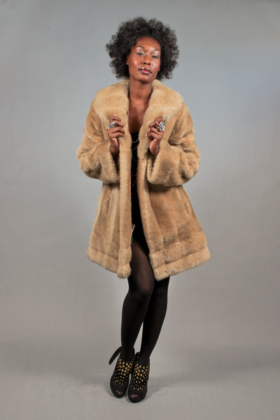 faux fur brown vintage jacket