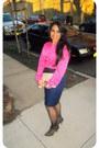 Gold-zebra-metallic-bag-blue-skirt-hot-pink-top
