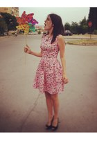 bubble gum cupcakes vintage dress - black Stradivarius heels
