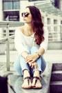 Light-blue-topshop-jeans-gold-h-m-necklace-off-white-h-m-top