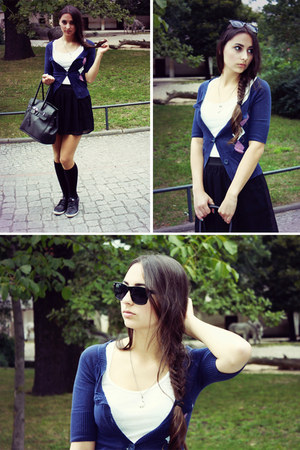Missoni cardigan - Orsay bag - Ray Ban sunglasses - Stradivarius skirt