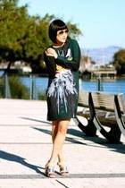 silk Clover Canyon dress - silver aviator ray-ban sunglasses - sam edelman heels