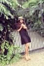 Vintage-dress-vintage-hat-leather-jeffrey-campbell-heels