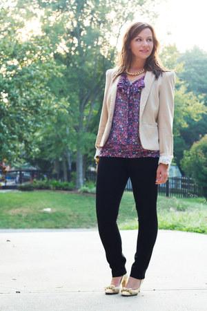 Forever21 blazer - Forever21 blouse - Gap pants - JCrew heels