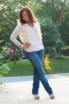 7 for all mankind jeans - JCrew cardigan - American Apparel t-shirt