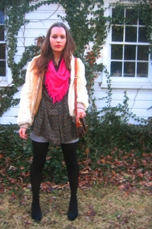 Goodwill coat - thrifted shirt - Given scarf - Fashion Bug shoes - Louis Vuitton