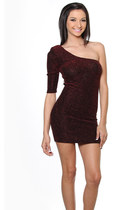crimson pinkclubwear dress