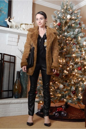 faux leather AHAISHOPPING pants - suede Target coat