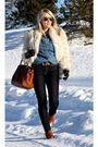 Blue-lee-jeans-orange-mulberry-accessories-white-2ndhand-coat-black-rayban