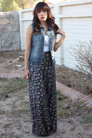 high waisted DECODED pants - denim calvin klein vest