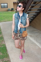 blue denim calvin klein vest - bubble gum Keds shoes