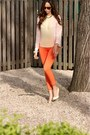Light-yellow-metal-tip-zara-heels-light-pink-pink-yellow-zara-shirt