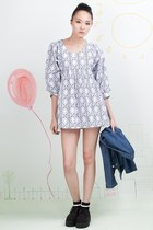Floral Patterns Smock Dress