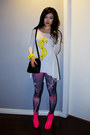 Black-large-wrap-marc-jacobs-scarf-hot-pink-necessary-clothing-shoes