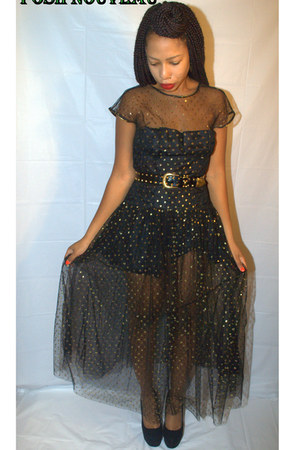 black sheer Posh Nouveau dress