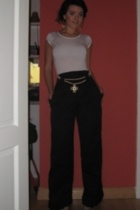 Oasis t-shirt - French Connection pants - Topshop necklace