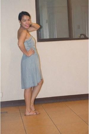 denim dress Bershka dress - Accessorize accessories - Forever 21 sandals
