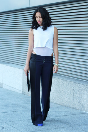 American Apparel bodysuit - Zara pants - Dolce Vita pumps