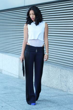 American Apparel bodysuit - Zara pants - Dolce Vita pumps