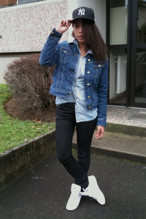 Lee Cooper jacket - Zara jeans - new era hat - asos shirt - Reebok sneakers