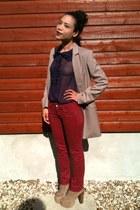 Jeffrey Campbell boots - Mango jeans - vintage jacket - H&M blouse