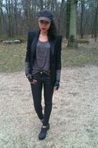 Queens Wardrobe blazer - Zara jeans - G-Star hat - Topshop t-shirt