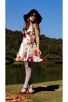 white floral Sheinsidecom dress