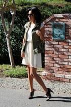 Zara vest - sam edelman boots - Nordstrom dress