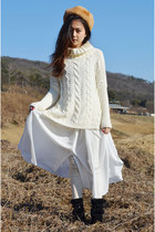 midi skirt Q2HAN sweater - Rosewholesale skirt