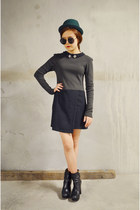 collar dress Q2HAN dress