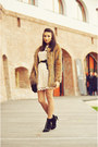 Black-studded-zara-boots-ivory-lace-asos-dress-brown-faux-fur-tfnc-coat