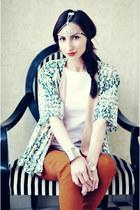 kimono H&M blazer - Zara blouse - H&M pants - Zara heels