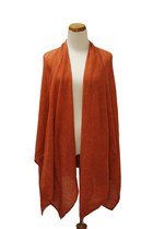 burnt orange Qi cashmere cape