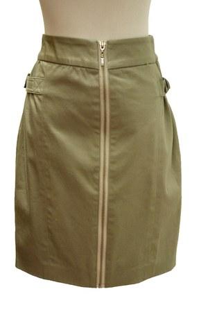 dark khaki Qi skirt