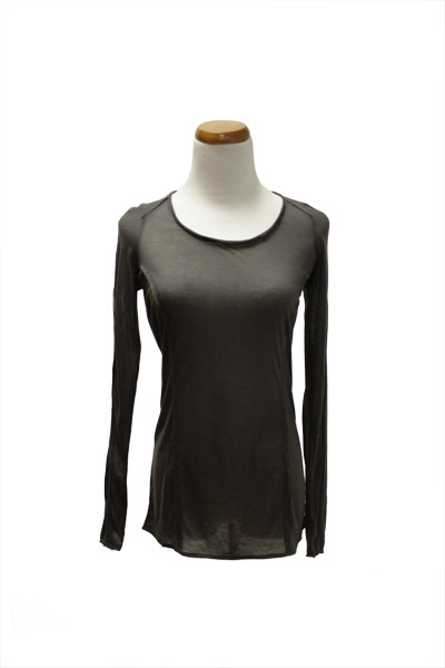 dark gray QiCashmere top