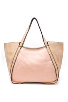 Color Block Oversized Tote Bag