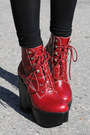 Black-bowler-h-m-hat-brick-red-platform-jeffrey-campbell-boots