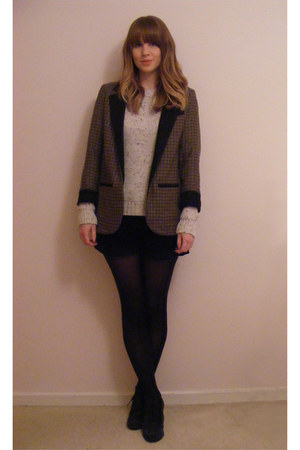 lace ups Carvela shoes - tweed Topshop blazer - corduroy asos shorts - chunky kn