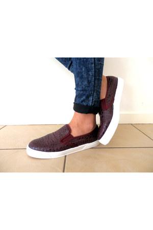 slip ons croc Topshop shoes - slip onc croc Topshop shoes