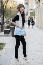 H&M bag - Nicholas pumps - cichic vest