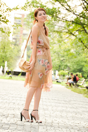 Sheinside dress - sarenzaeu bag - sarenzaeu sandals
