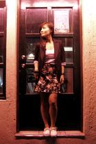 blazer - Mango top - Home-made skirt - Vans shoes
