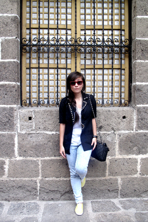 DIY blazer - Zara shirt - Top Shop pants - Keds shoes - thrifted sunglasses - Al
